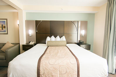 King Room With A Ious One Sized Bed Microwave And Refrigerator
