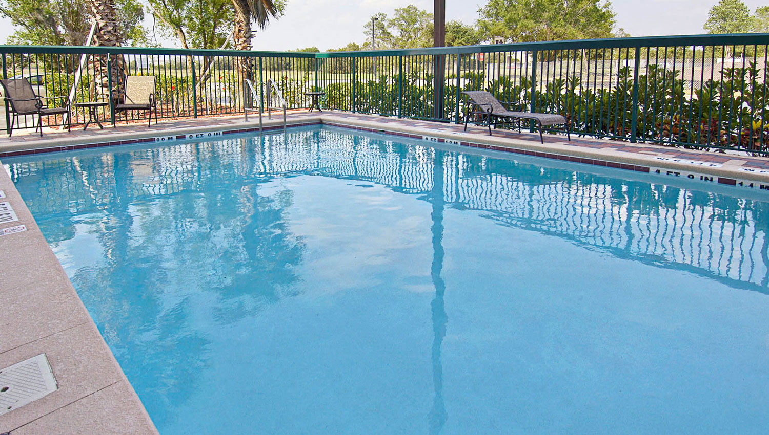blue outdoor swimming pool for hot Florida weather